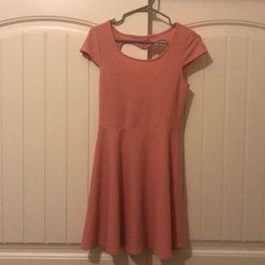 Fit and Flare Dress with cut out back